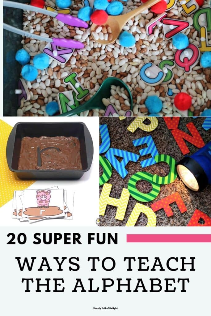 20 Super Fun ways to teach the alphabet
