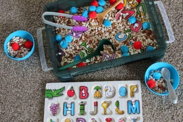 Alphabet Soup Game - An ABC Sensory Bin Activity