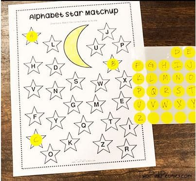 Alphabet Star Match up game