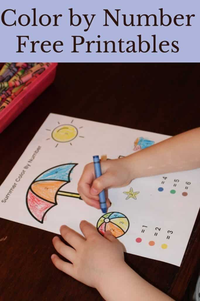 Color by Number Free printables