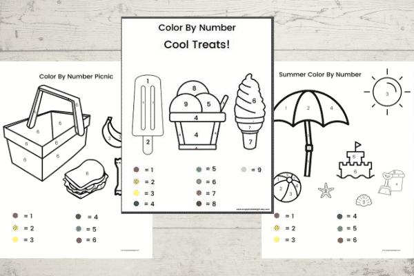 Printable Color By Number Preschool Worksheets (Free!)
