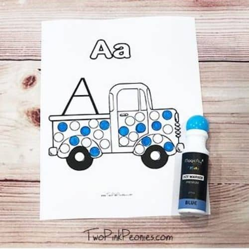 Do a dot ABC truck printable