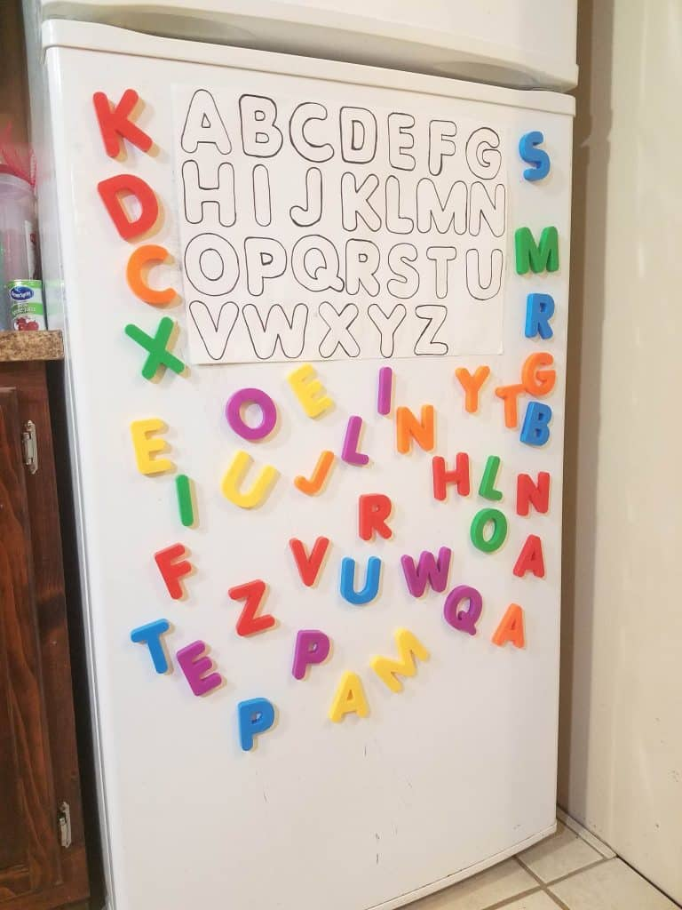 magnet alphabet game