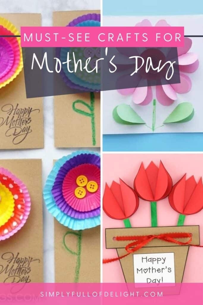 Must See Crafts for Mother's Day - 30 flower crafts for kids to make for Mother's day!