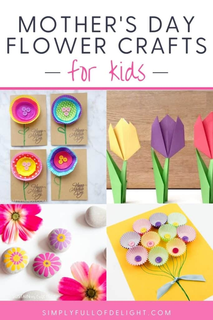 Mother's Day Flower Crafts for Kids - 30 crafts that kids can make for mom for Mother's Day