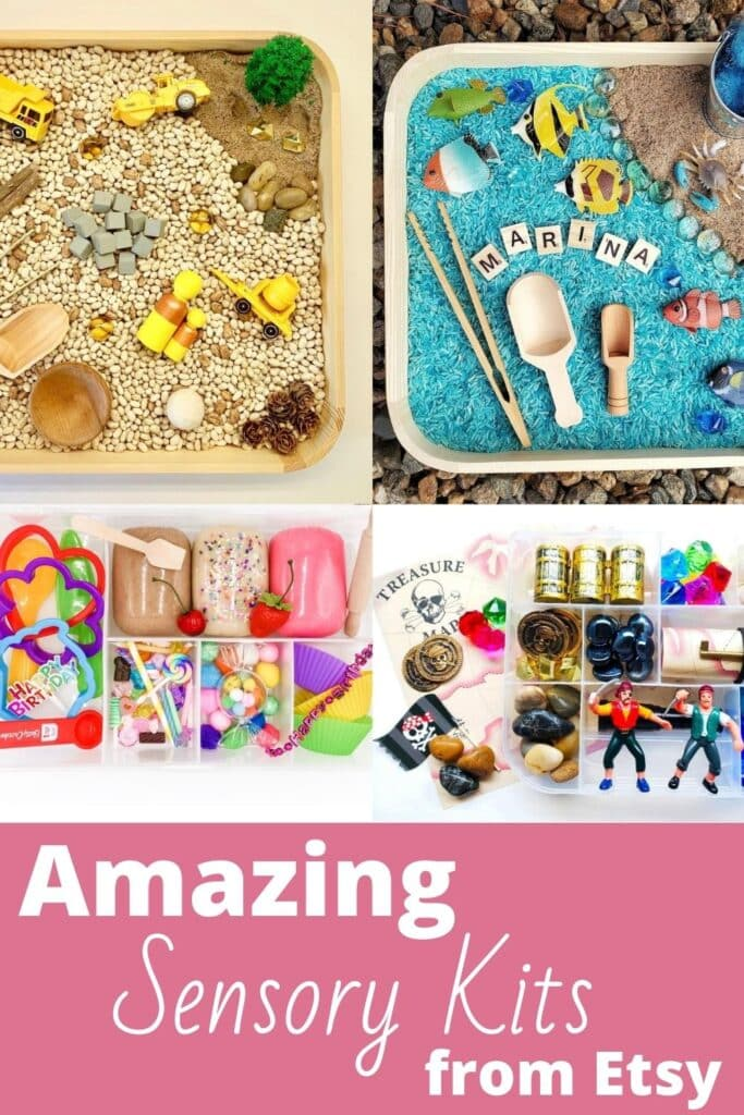 Amazing Sensory Kits from Etsy - Discover awesome premade sensory bins  - Great gifts for kids!