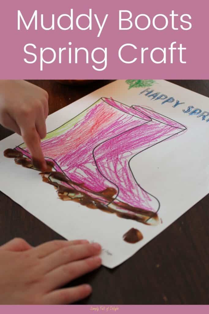 Muddy Boots Spring Craft - An Easy Spring craft for Toddlers