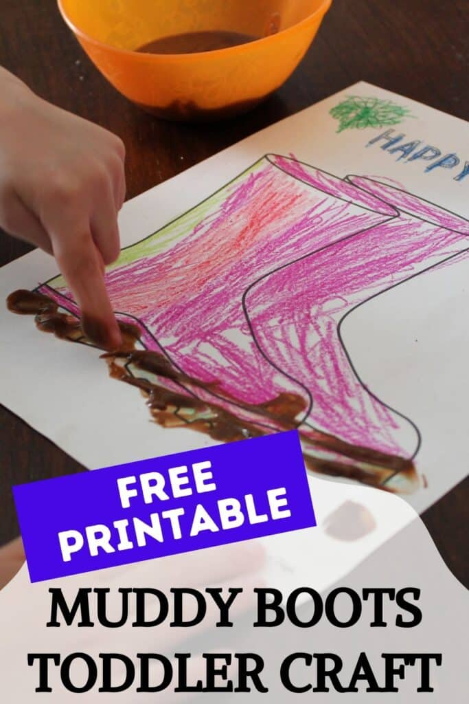 Free Printable Muddy Boots Toddler Craft