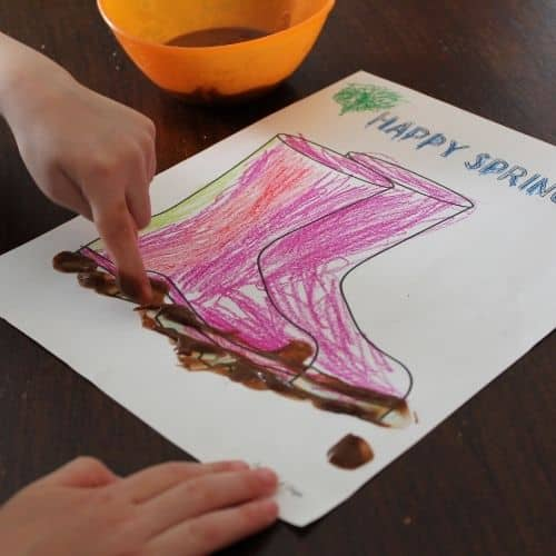 muddy boots spring craft for toddlers