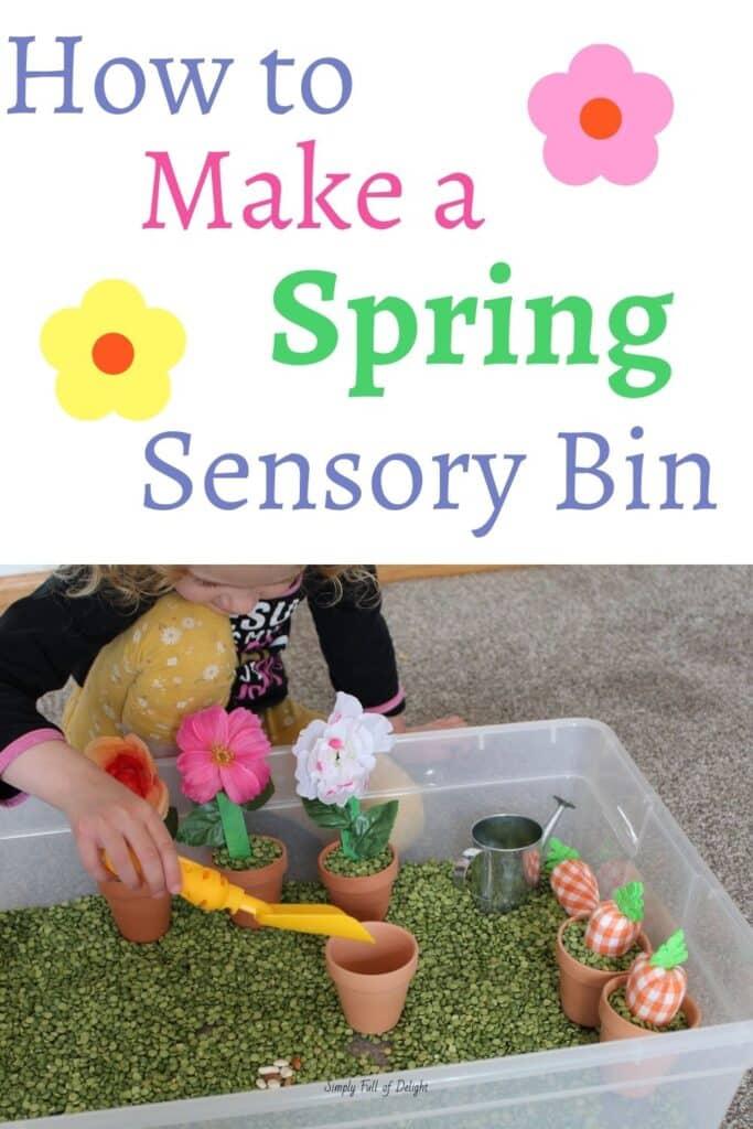 How to Make a Spring Sensory Bin
