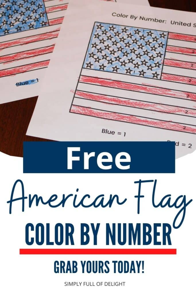 Free American Flag Color by Number - Grab yours Today!