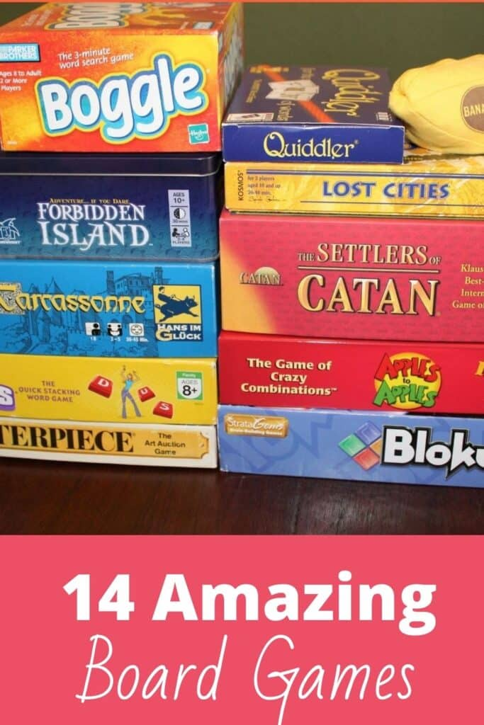 14 amazing board games, great for family game night!