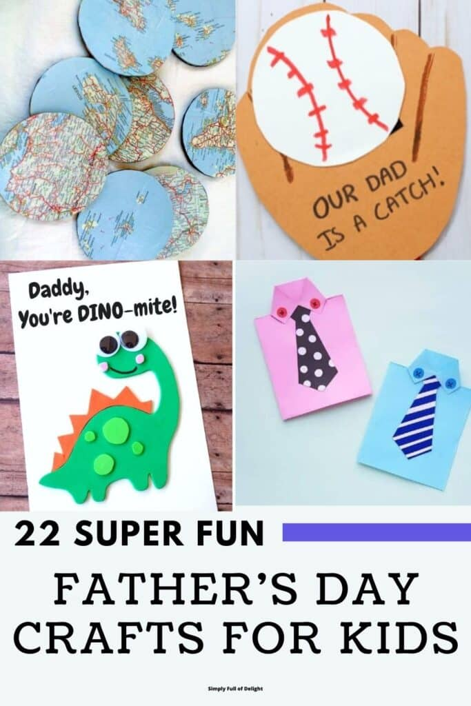 22 Super Fun Father's Day Crafts for Kids - Find everything from simple cards to coasters, paperweights, and more amazing projects for dad or grandpa to celebrate Father's Day!