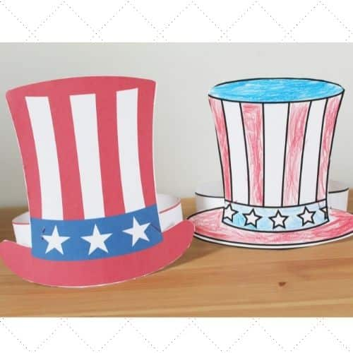 how to make an uncle sam hat headband