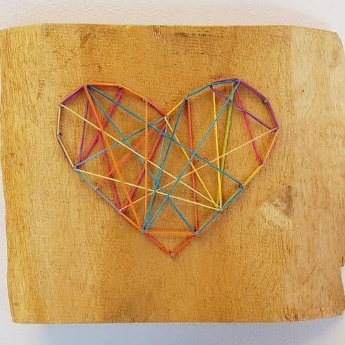 String Art Heart by Lil Tigers