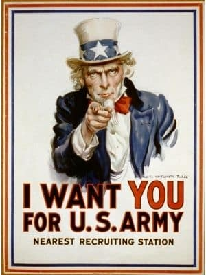 Uncle Sam Recruitment poster - I want you for U.S. Army