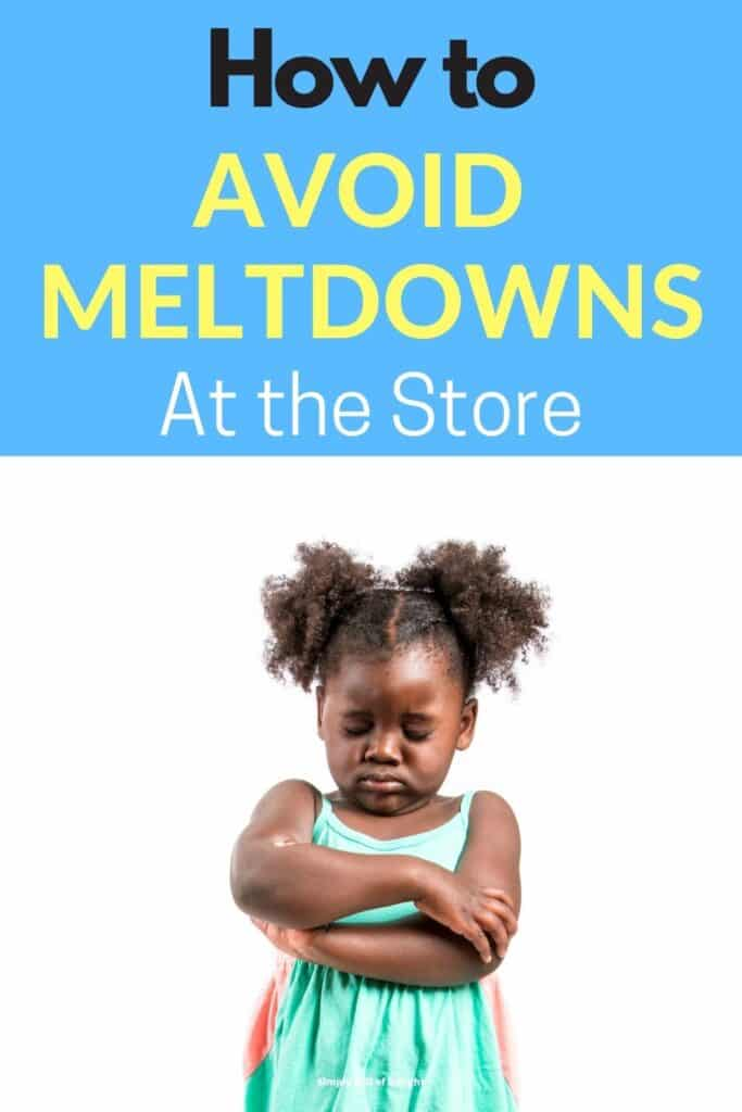 How to avoid meltdowns at the store - here's some mom hacks for stopping tantrums fast when you are Grocery Shopping with a Toddler (or two!)