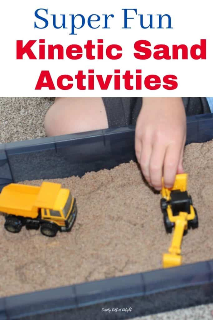 Super Fun Kinetic Sand Activities - Here's 15 Fun things to do with kinetic sand!