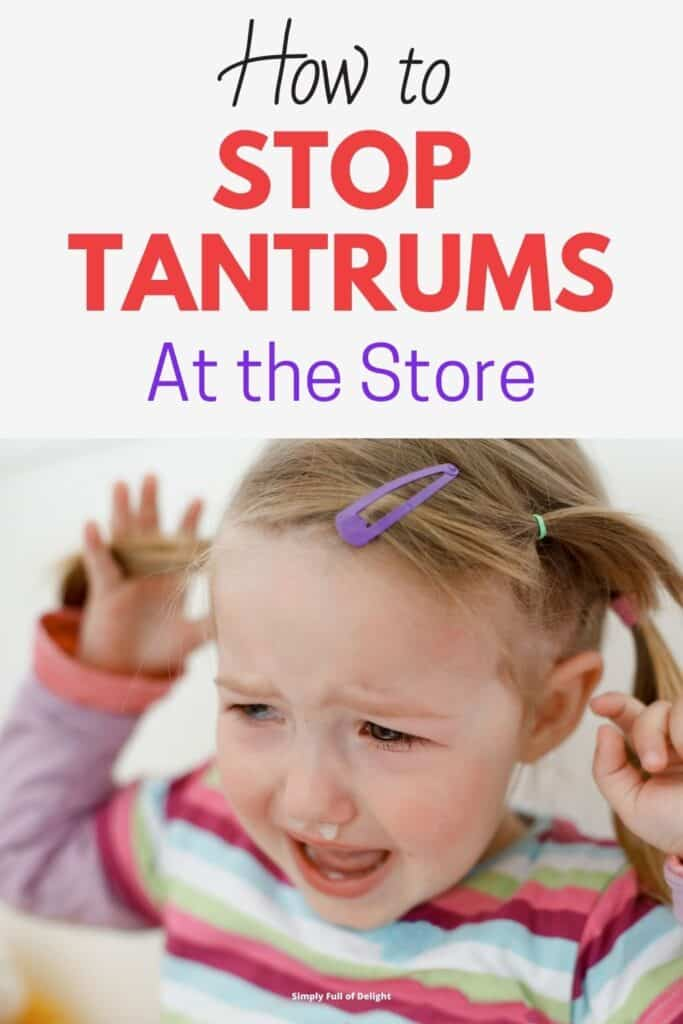 How to stop tantrums at the store - If you've ever went shopping with toddlers, you know how major meltdowns can occur.  Here's some tips and tricks from a seasoned mom on how to stop tantrums fast.