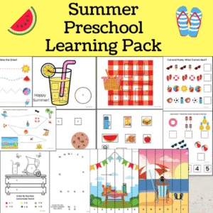 summer preschool printables