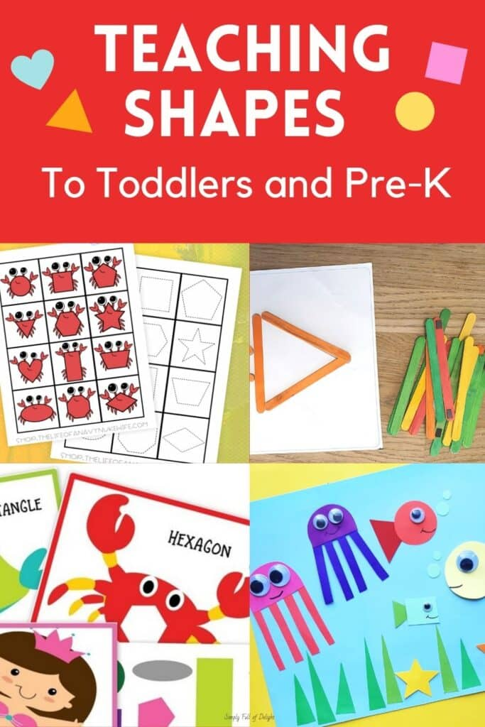 Amazing shapes activities for toddlers and preschoolers - find free printables for teaching shapes along with hands-on learning activities like sensory bins, matching games, crafts and more!