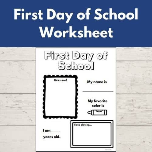 First Day of School Worksheet - kids can share all about themselves on the first day of school with this fun activity!