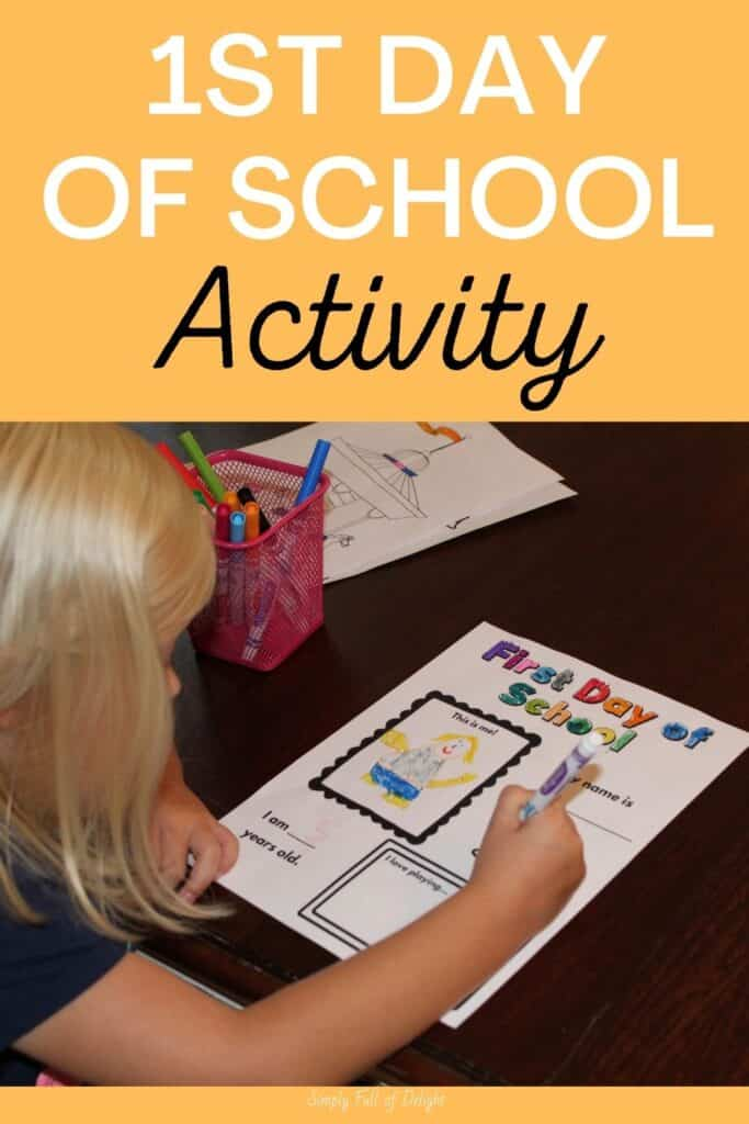 First Day of school Activity - grab your free all about me worksheet for kindergarten, preschool or 1st grade