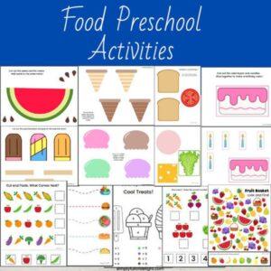 food preschool learning pack