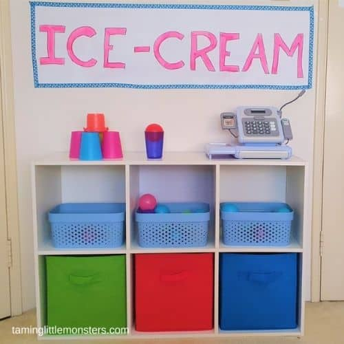 Ice cream store dramatic play  by Taming little monsters