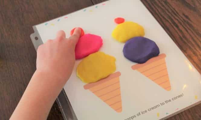 Ice Cream Play Dough mat by Simply Full of Delight