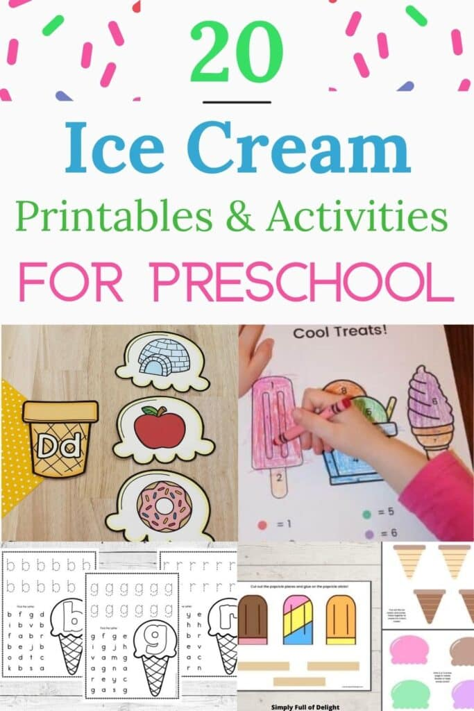 20 Ice Cream Printables and Activities for Preschoolers- discover amazing ideas for a cool ice cream themed unit!