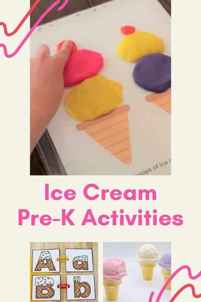 Here's 20 amazing Ice Cream Printables and Activities for Preschoolers!  Make learning cool with these ice cream activities for preschoolers!