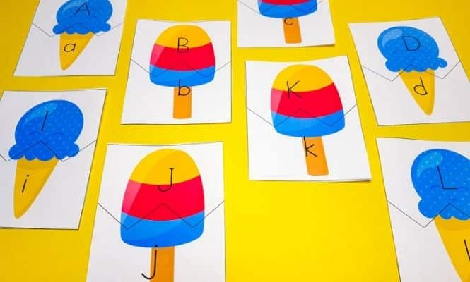 Ice cream letter puzzles by Living Life and Learning