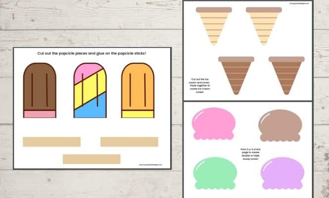 Ice Cream Cut and Paste activities by simply full of delight