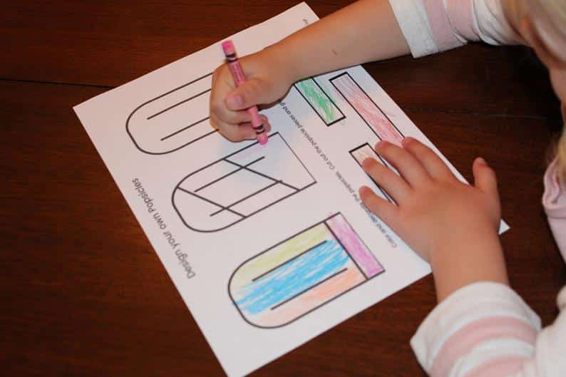Color Your Own Popsicles by Simply Full of Delight