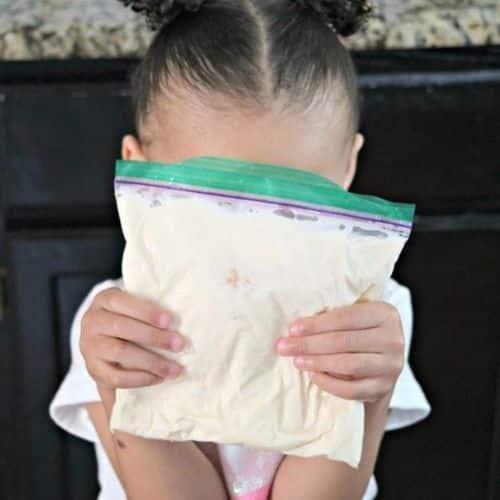 How to make homemade ice cream in a bag for kids by The Denver Housewife.