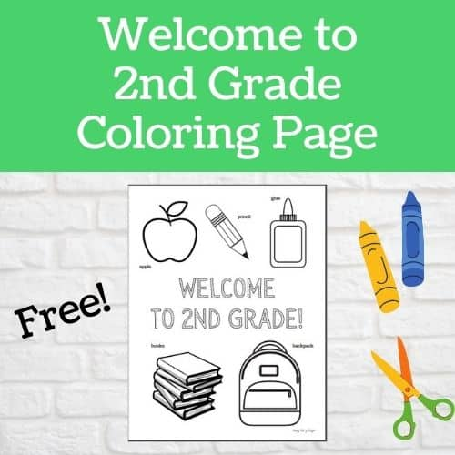 Welcome to 2nd Grade Coloring Page