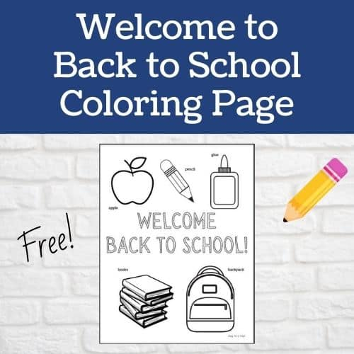 Welcome back to school coloring page - free first day of school coloring page