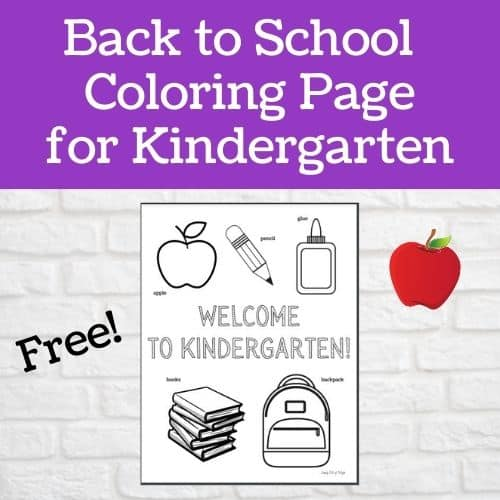 free Back to School Coloring Page for Kindergarten