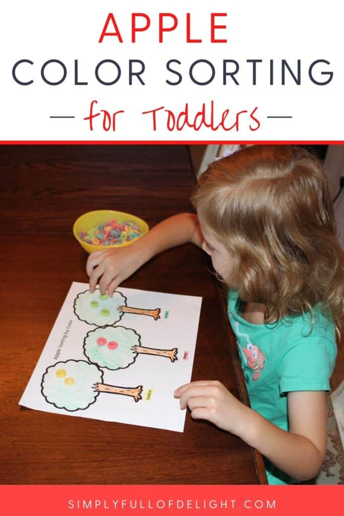 Apple Color sorting for toddlers