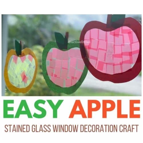 easy apple stained glass window decoration craft by