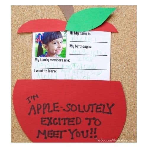 About Me apple craft by the soccer mom blog