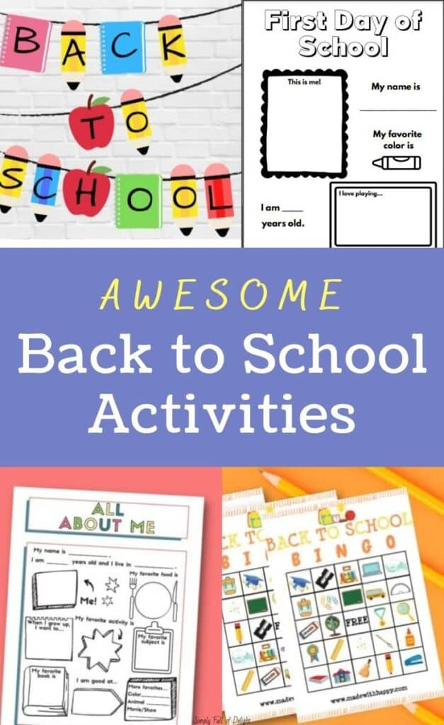 Awesome Back to School Activities - Find free All about Me printables, first day of school craft ideas, and more.  Plan your 1st day of school activities today!