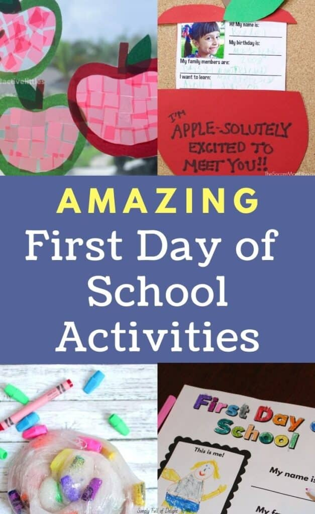 Amazing First Day of School Activities - it's time to prepare those Back to School Activities!  Here's some fun ideas that are perfect for the 1st Day of School!