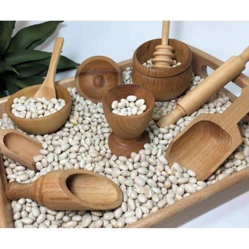 Sensory Bin wooden toy kit by Playful Petalz btq