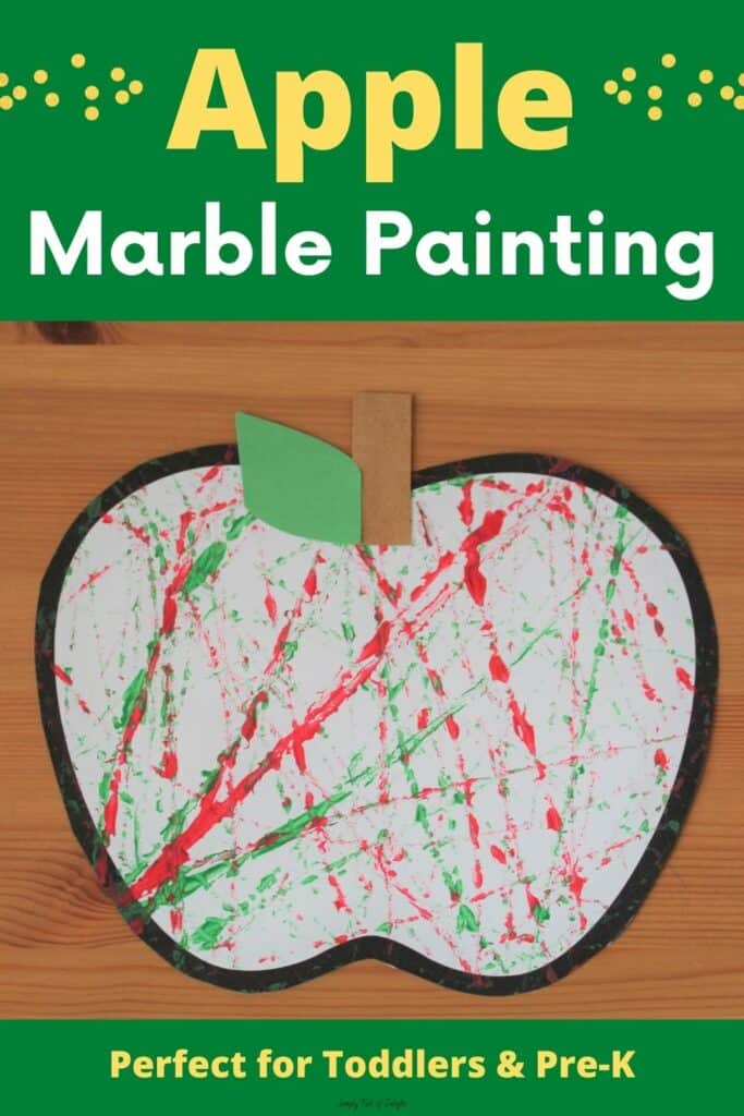 Apple Marble Painting for preschoolers - Perfect for Toddlers and pre-k!