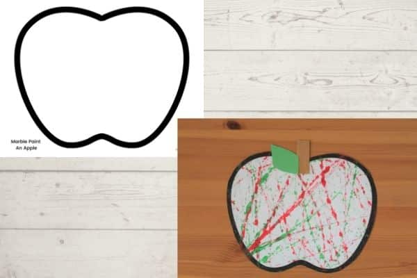 apple template for marble painting apple craft for preschool