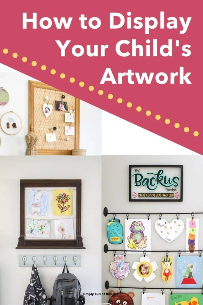 How to Display Your Child's Artwork - Here's 10 incredible creative ways to display kids artwork!