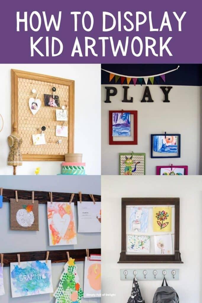 How to Display Kid Artwork - Find creative ways to display kids artwork!