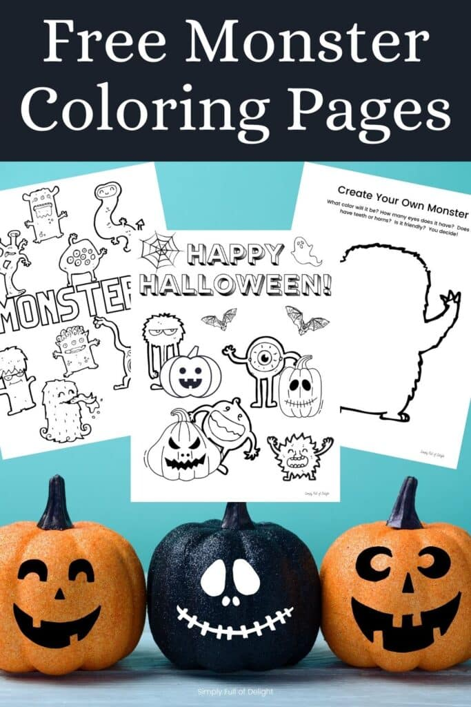Free Monster Coloring Pages for Kids!  Grab your free monster coloring pages printables today and celebrate Halloween with some spooky fun!